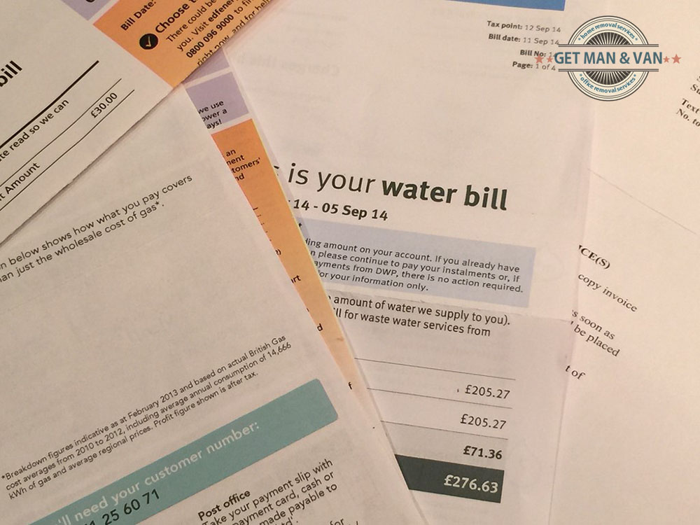 Stack of utility bills