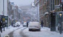 Winter street in London