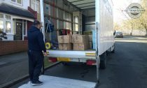 A mover loading the van
